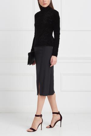 Однотонная юбка Viva Vox. Цвет: черный