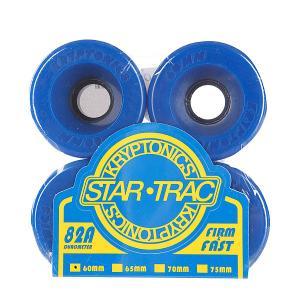 Колеса для скейтборда лонгборда  Star Trac Premium Blue 82A 60mm Kryptonics. Цвет: синий