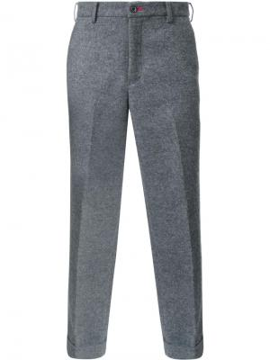 Укороченные брюки Loveless. Цвет: серый