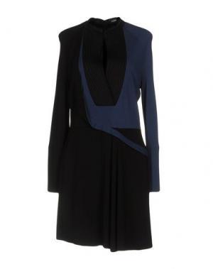 Короткое платье ATLEIN. Цвет: грифельно-синий