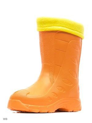 Резиновые сапоги Дюна. Цвет: оранжевый