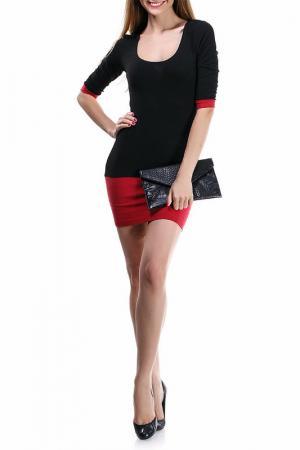 Платье Majaly. Цвет: черный, красный