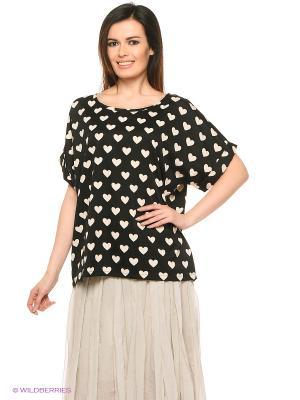 Блузка Compania Fantastica. Цвет: черный
