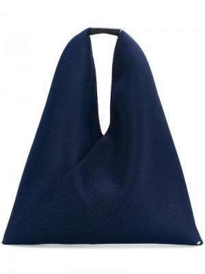 Перфорированная мешковатая сумка-тоут Mm6 Maison Margiela. Цвет: синий