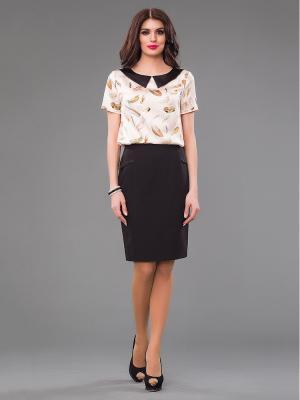 Блузка Be cara. Цвет: черный, кремовый
