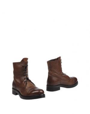 Полусапоги и высокие ботинки ERNESTO DOLANI. Цвет: какао