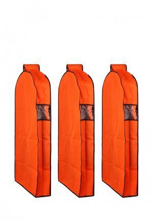 Комплект чехлов для верхней одежды 3 шт. El Casa. Цвет: оранжевый