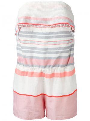 Stripe bandeau playsuit Lemlem. Цвет: розовый и фиолетовый