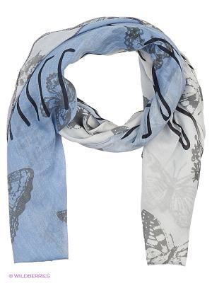 Платок CODELLO. Цвет: серебристый, голубой