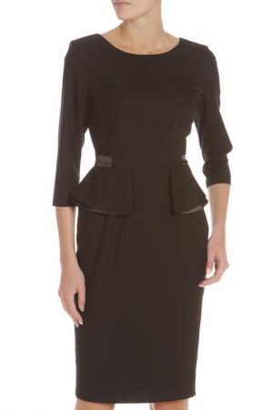 Полуприлегающее платье с рукавами 3/4 Evita. Цвет: black, черный