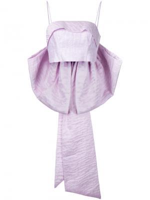 Топ-бюстье с бантом Magnolia Bambah. Цвет: розовый и фиолетовый
