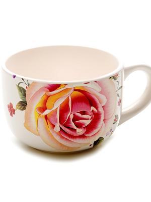 Кружка LORAINE. Цвет: розовый, белый
