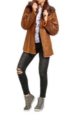 Куртка SARAH KERN. Цвет: карамель