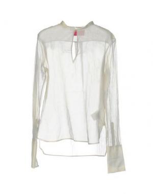 Блузка CARLO CONTRADA. Цвет: светло-серый