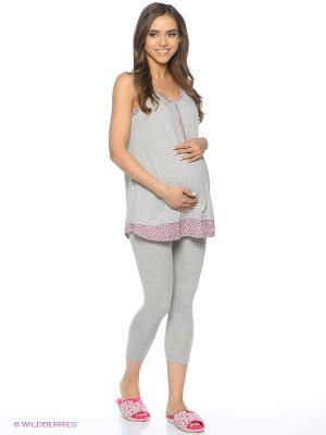 Комплект для беременных и кормящих (майка+ леггинсы) FEST. Цвет: серый, малиновый