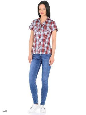 Блузка HomeLike. Цвет: серый, бордовый