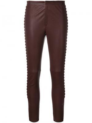 Кожаные брюки Pretley Isabel Marant. Цвет: красный