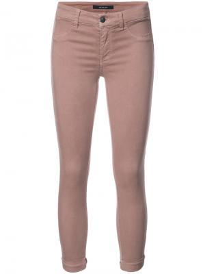 Укороченные джинсы скинни J Brand. Цвет: телесный