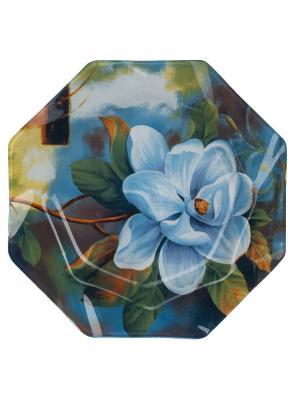 Тарелка 30 см Elff Ceramics. Цвет: голубой, синий, зеленый