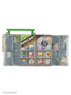 Коллекционный кейс Майнкрафт Mattel. Цвет: серый, салатовый