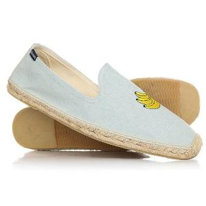 Эспадрильи  Banana Embr Smoking Slipper Chambray Soludos. Цвет: светло-голубой