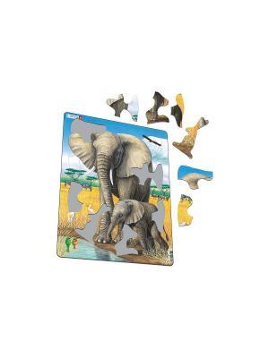 Пазл Слон LARSEN AS. Цвет: белый, синий, зеленый, голубой, оранжевый, желтый