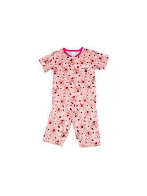 Пижама Модамини. Цвет: коричневый, розовый