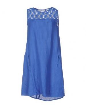 Короткое платье LA FABBRICA DEL LINO. Цвет: ярко-синий