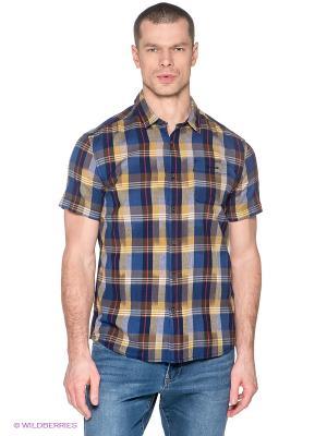 Рубашка Finn Flare. Цвет: синий, горчичный, красный