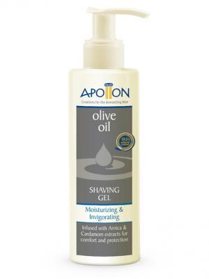 Гель для бритья Увлажнение и тонизирование с алоэ вера арникой Aphrodite. Цвет: оливковый