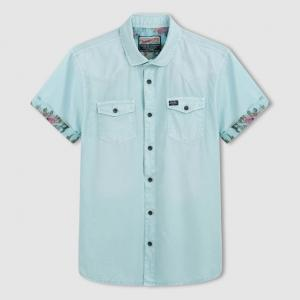 Рубашка с короткими рукавами PETROL INDUSTRIES. Цвет: бирюзовый