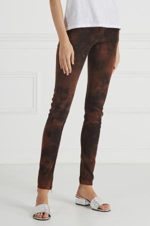 Фактурные джинсы Pepe Jeans. Цвет: оранжевый