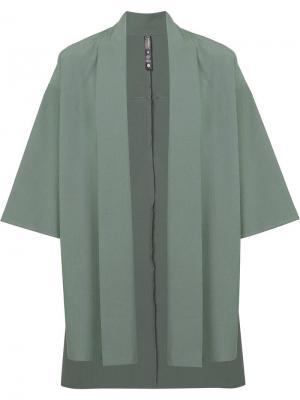 Пиджак в стиле кимоно Brandblack. Цвет: зелёный