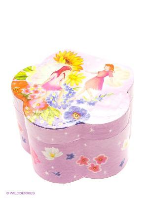 Маленькая музыкальная шкатулка в форме цветка Jakos. Цвет: розовый