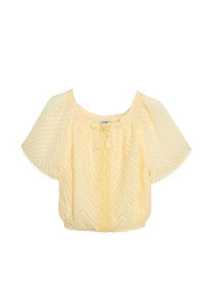 Блузка Mayoral. Цвет: персиковый, светло-коричневый, светло-бежевый
