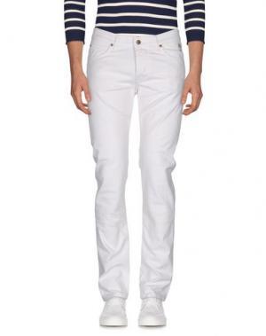 Джинсовые брюки ROŸ ROGER'S. Цвет: белый