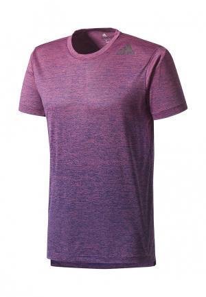 Футболка adidas. Цвет: фиолетовый