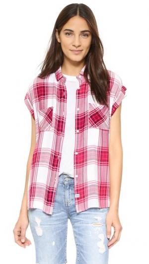 Блуза Britt RAILS. Цвет: малиновый/белый