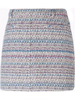 Тканая юбка мини Thakoon. Цвет: многоцветный