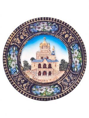 Декоративная тарелка Иерусалим на подставке Bethlehem Star. Цвет: голубой
