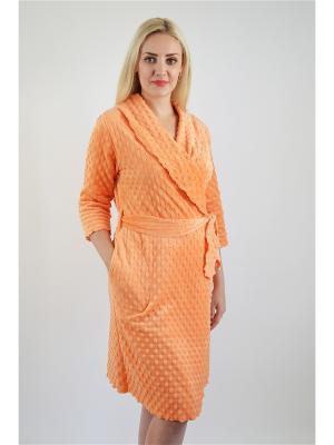 Халат Miata. Цвет: оранжевый