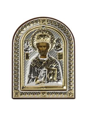 Икона Св Николай Чудотворец NAVELL. Цвет: коричневый, серебристый