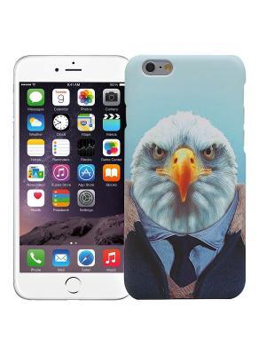 Чехол для iPhone 6/6s Орел в костюме Kawaii Factory. Цвет: светло-голубой, белый, желтый