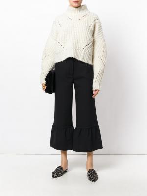 Укороченные расклешенные брюки Erika Cavallini. Цвет: чёрный