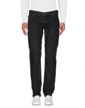 Джинсовые брюки MESSAGERIE. Цвет: черный