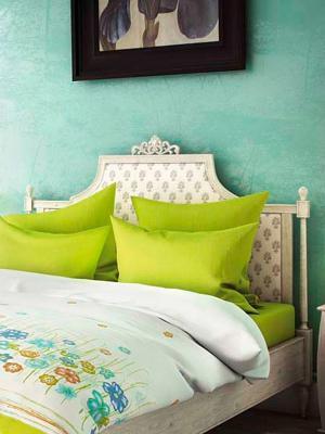 Комплект постельного белья Французское утро Волшебная ночь. Цвет: светло-зеленый