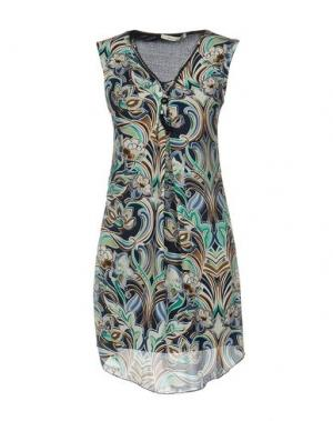 Короткое платье GIORGIA & JOHNS. Цвет: темно-синий