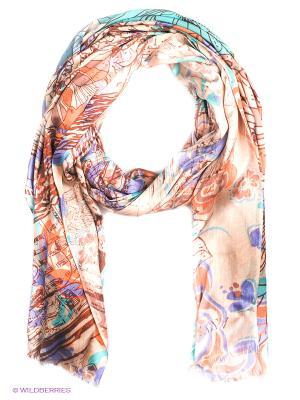 Платок Eleganzza. Цвет: оранжевый, бирюзовый, кремовый