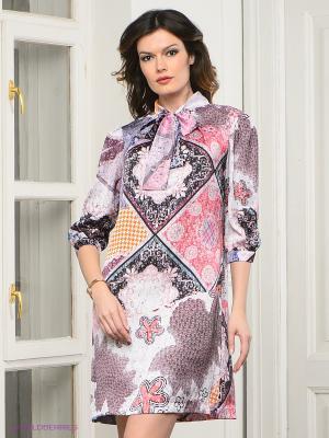 Платье MARY MEA. Цвет: розовый, черный, оранжевый