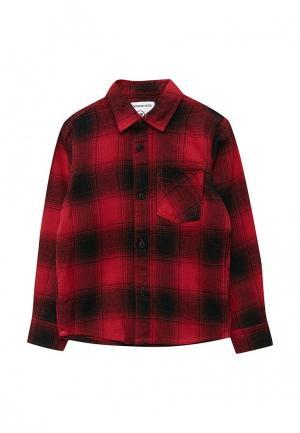 Рубашка Piazza Italia. Цвет: красный